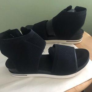 Eileen Fisher black stretch knit sneaker sandal